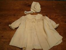 Vintage Silk Coat & Hat LS Ayres Indianapolis Infant Child Antique Size 18-24