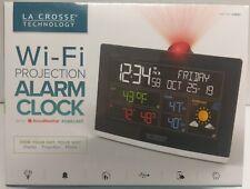 La Crosse Wi-Fi Projection Alarm Clock w/ Accu Weather Forecast, USB Charge Port