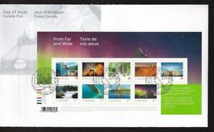 Canada FDC 2018 From Far & Wide, S/S of 9, sc#3056