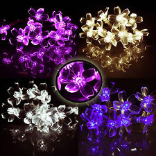 LED Lichterkette Batterie warmweiß bunt 3 x 10 LED Blumen Lichterketten Deko