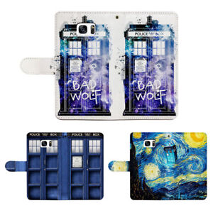 Doctor Who PU Leather Card Slot Flip Wallet Cover Case fit for iPhone & Samsung