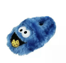Sesame Street Cookie Monster Fuzzy Soft Slippers Infant Toddler Size 3