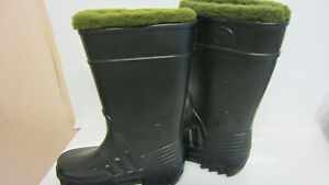 DERRI BOOTS Pisces, Mens/Ladies Green Fleece Lined Boots (GO)