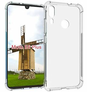Crystal Clear Gel Silicone Case Shock Proof Cover for Motorola Moto E6 Plus