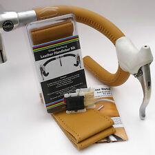 Velobitz Vintage Pale Honey Leather Handlebar Cover Kit, Wax Thread & Needles