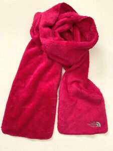 The North Face Girls Denali Thermal Scarf, Luminous Pink, One Size - NEW