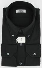 New $600 Fray Black Casual Shirt Medium