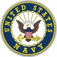 """United States Navy Aluminum Sign Round 12"""" Inches Navy Duty Honor Country Bold"""