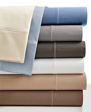 Hotel Collection Bedding 525 Thread Count Cotton KING Sheet Set Ivory $285 I236