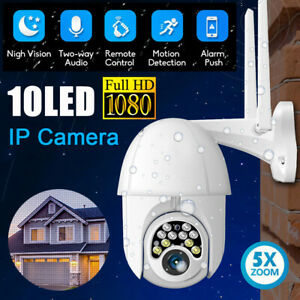 HD 1080P WIFI IP Camera Wireless Outdoor CCTV PTZ Smart Home Security IR Cam