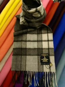 100% Pure Cashmere Scarf | The House of Balmoral | Grey Buchanan | Tartan
