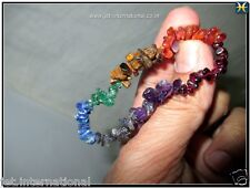 7 Chakra Chips Bracelet Healing Peace Positive A Energy Natural Crystal Gemstone