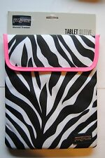 JanSport Fully Padded Animal Print Zebra 1.0 Tablet Sleeve Case, Touch Fastener