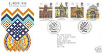 6 MARCH 1990 EUROPA ROYAL MAIL FIRST DAY COVER BUREAU SHS