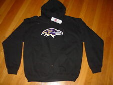 Official TEAM NFL BALTIMORE RAVENS Embroidered HOODED Sweatshirt NEW..... LARGE