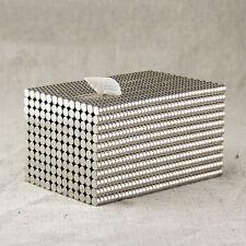 50Pcs 3x2mm Strong Neodymium Magnets Rare Earth Round Disc Fridge Craft BCCX83