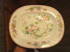 "One MINTON CUCKOO DINNER PLATE 10.25"" FLORAL BIRD wavy edge   - HYMLOT"