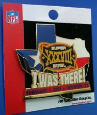 Nfl Super Bowl Xxxviii Panthers Vs Patriots I Was There Collectible Psg Pin Rare