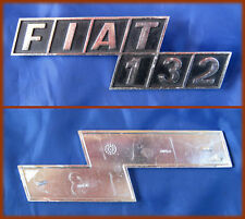 FIAT 132 - FREGIO OLD BADGE SCRITTA METALLO