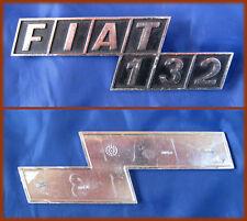 FIAT 132 - FREGIO OLD BADGE SCRITTA METALLO