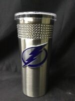 NHL Team 16oz Stainless Steel Rhinestone Bling Tumbler w/ Lid