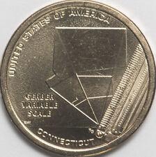 USA 1 dollar 2020 Innovation N6 Connecticut Gerber Variable Scale Mint D (#7321)