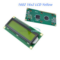 1/2/5/10PCS 1602 16x2 HD44780 Character LCM Yellow Backlight LCD Display Module
