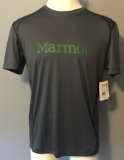 MARMOT Ridgeline SS Mens Golf Tennis Performance T Shirt UPF 50 Slate Grey ~ M