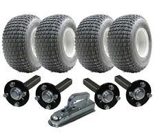 DOUBLE ESSIEU ATV REMORQUE Kit - quad - 4 roues + Moyeu / + Attelage, 400 kg