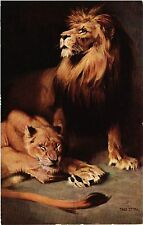 CPA Colis du Poilu TADE STYKA - Les lions (285850)