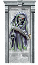 Halloween Party Door Gore Decoration Grim Reaper cheap poster banner scene sette