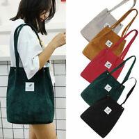 Korean Style Women Corduroy Shoulder Shopping Bag Tote Bags Purse Casual Handbag