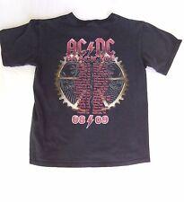 Vintage ACDC AC/DC Black Ice 2008 2009 Concert Tour DATES T-Shirt Size Medium