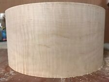 "14"" X 6.5"" Curly Maple Snare Shell 16ply 10mm Thick"