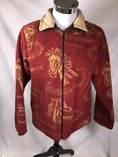 Bear Ridge Outfitters Size Medium Fleece Jacket Horse Design Nice