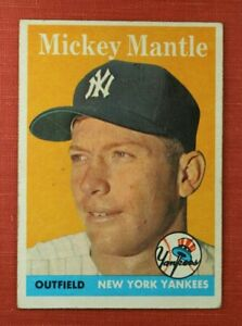 ∎ 1958 TOPPS baseball card MICKEY MANTLE #150 **AMAZING CARD**