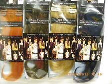"NEW Balmain 100% Human Hair Clip/Tape Extension Natural Straight  25cm 9.8"" 2pc."