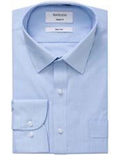 Van Heusen Mens Shirts X3 Business Stripe Classic Fit Shirt A106 Blue 44 90