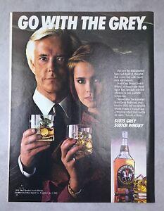 1980s magazine Ad SCOTS GREY Whiskey Liquor Alcohol Drink mancave