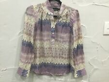 ZIMMERMANN - divine silk/cotton long sleeve floral BLOUSE/TOP....size 1