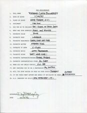 Ray Billingsley Hand Signed+Filled Out 20 Questions+Coa Curtis Cartoonist