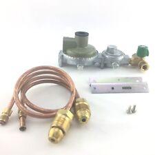 LPG Bottle Regulator Kit Two Stage 290MJ Suit Caravan and Home Use - Marshall
