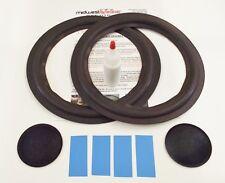 "Acoustic Research AR-2ax 10"" Woofer Refoam Kit Speaker Foam Repair w/ Dust Caps!"