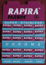 RAPIRA 100 Super Stainless Chrome Double Edge Razor Blades 20 packets of 5 gift