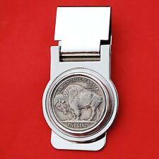 US 1913-38 Indian Head Buffalo Nickel Hinged Money Clip NEW