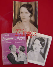 LOUISE BROOKS Photo+Doc Ex-libris Menjou SADOUL 1927