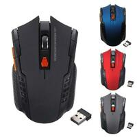 2.4Ghz Mini Wireless Optical Gaming Mouse Mice& USB Receiver For PC Laptop Red