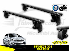 IRON130+BS130 BARRE PORTATUTTO FARAD IN FERRO PEUGEOT 308 DAL 2014