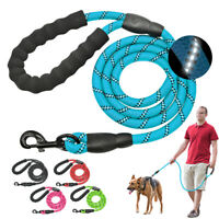 4.9ft Reflective Rope Bungee Braided Dog Leash Strong Long Leads for Pet Walking
