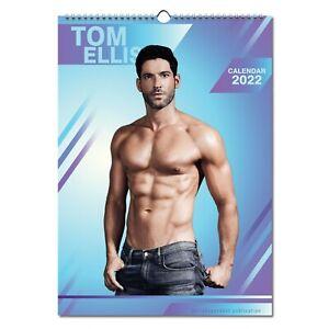 Tom Ellis 2022 Wall Calendar NEW A3 Poster Size 12 Months Lucifer
